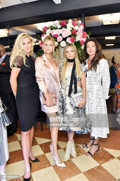 Amber Estabrook Kelly Rohrbach Erica Pelosini and Audra Asencio attend Lynn Hirschberg Celebrates W Magazine's It Girls With Dior at AOC on January 6...