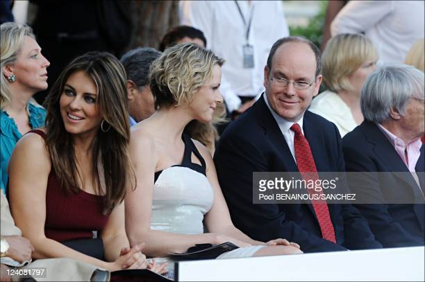 Amber Fashion show and auction in Monaco on May 22 2009 Picture shows Liz Hurley Charlene Wittstock Prince Albert