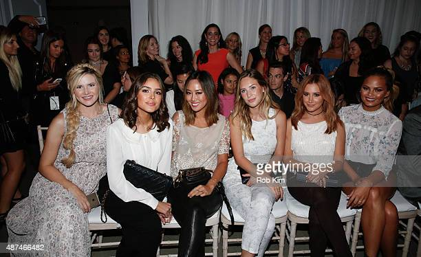 Amber Fillerup Olivia Culpo Aimee Song Dylan Penn Ashley Tisdale and Chrissy Tiegen attend the LC Lauren Conrad fashion show during Spring 2016 New...