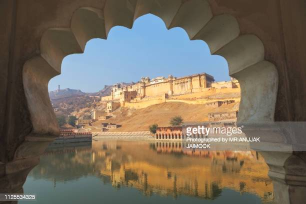 amber fort in rajasthan state of india - palace stock pictures, royalty-free photos & images