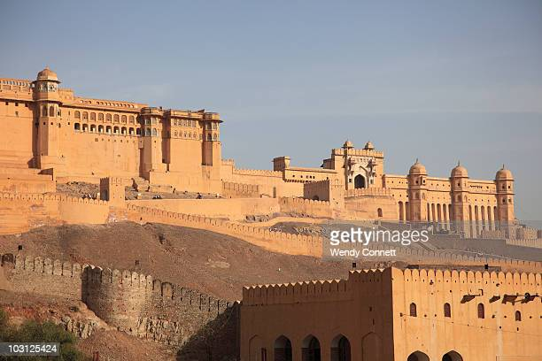 amber fort jaipur india - amber fort stock pictures, royalty-free photos & images