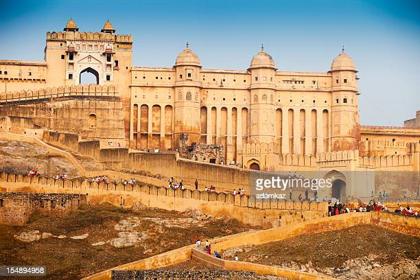 amber fort, jaipur, india - monument stock pictures, royalty-free photos & images