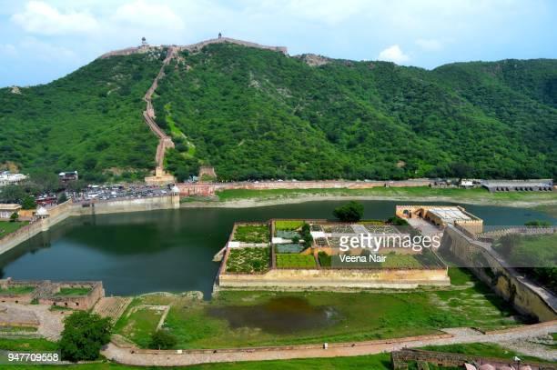 amber fort/amer fort-jaipur,rajasthan - amber fort stockfoto's en -beelden