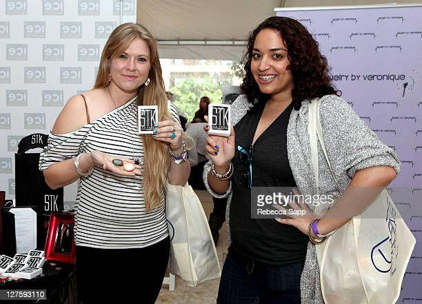 Amber Frakes and Gina Selim attend Kari Feinstein's Academy Awards Style Lounge at Montage Beverly Hills on February 25 2011 in Beverly Hills...
