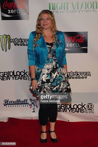 Amber Frakes attends Gridlock New Year's Eve Event at Paramount Studios in Hollywood on December 31 2008