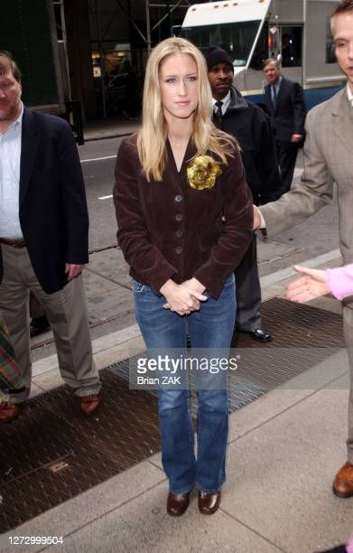 Amber Frey arrives to sign copies of her book Witness For the Prosecution of Scott Peterson at Barnes and Noble Rockefeller Center New York City