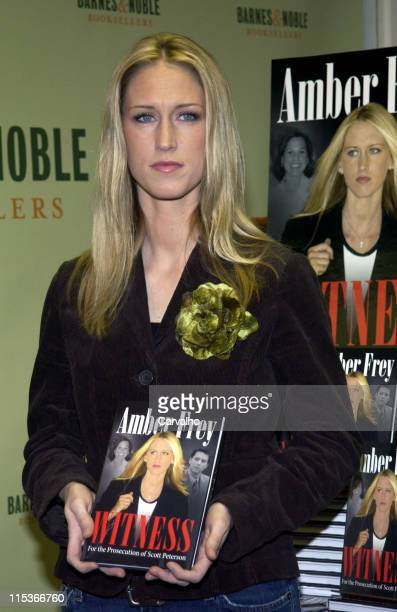 Amber Frey during Amber Frey Signs Copies of her Book Witness for the Prosecution of Scott Peterson at Barnes And Noble in New York City New York...