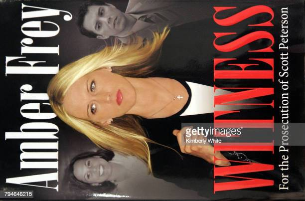 Amber Frey is pictured on her memoir's cover Witness For the Prosecution of Scott Peterson at Books Inc The book went on sale Tuesday and is an...