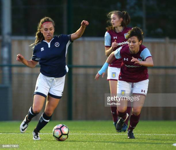 Amber Gaylor of Millwall Lionesses LFC during FA Women's Super League 2 match between Millwall Lionesses and Aston Villa Ladies FC at St Paul's...