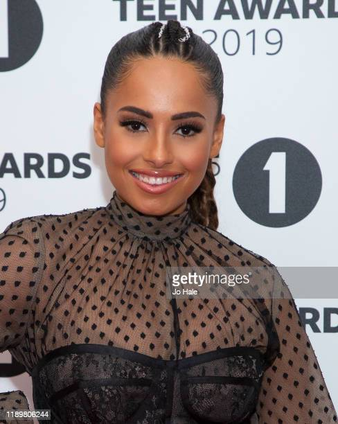 Amber Gill attends BBC Radio 1's Teen Awards 2019 on November 24 2019 in London United Kingdom