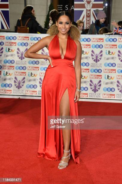 Amber Gill attends Pride Of Britain Awards 2019 at The Grosvenor House Hotel on October 28 2019 in London England