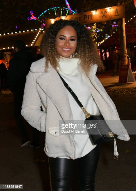 Amber Gill attends the Hyde Park Winter Wonderland 2019 VIP preview night on November 20 2019 in London England