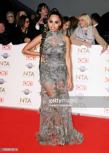 Amber Gill attends the National Television Awards 2020 at The O2 Arena on January 28, 2020 in London, England.