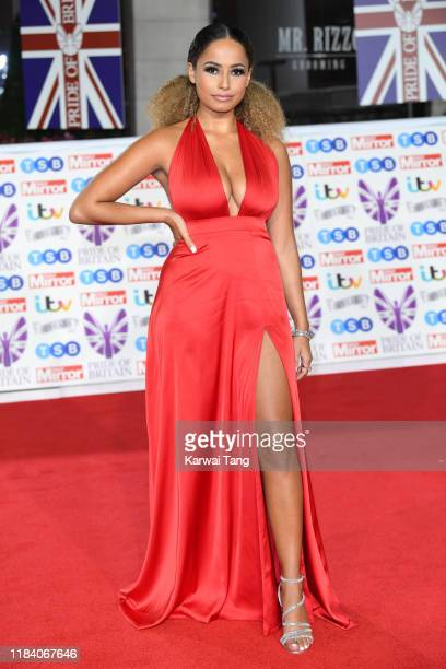 Amber Gill attends the Pride Of Britain Awards 2019 at The Grosvenor House Hotel on October 28 2019 in London England