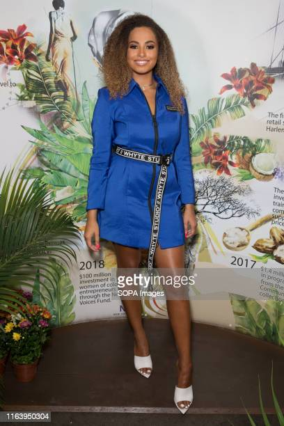 Amber Gill attends the Shea Moisture experiential popup at the Notting Hill Carnival in London
