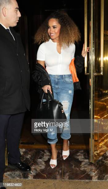 Amber Gill seen on a night out at Isabel restaurant in Mayfair on January 08, 2020 in London, England.