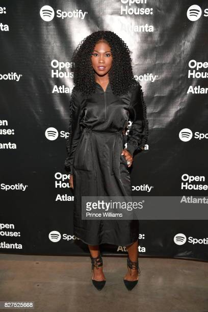 Amber Grimes attends Spotify Open House Mixer at The Gathering Spot on August 7 2017 in Atlanta Georgia