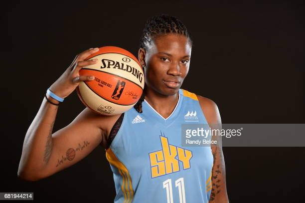 Amber Harris of the Chicago Sky poses for portraits during 2017 WNBA Media Day on May 10 2017 at Sachs Recreation Center in Deerfield Illinois NOTE...