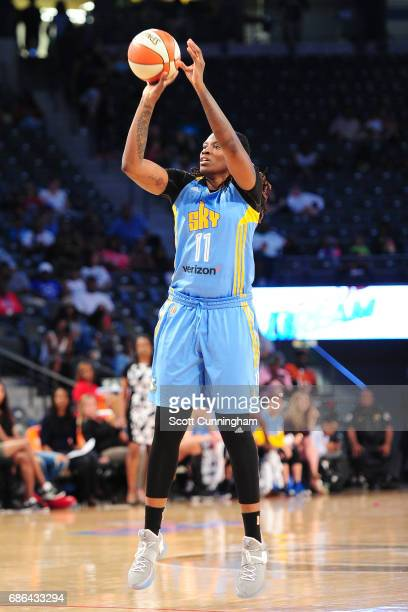 Amber Harris of the Chicago Sky shoots the ball against the Atlanta Dream on May 21 2017 at Hank McCamish Pavilion in Atlanta Georgia NOTE TO USER...