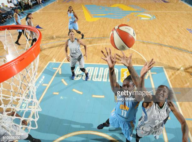 Amber Harris of the Chicago Sky shoots the ball against the Minnesota Lynx on July 8 2017 at Allstate Arena in Rosemont IL NOTE TO USER User...