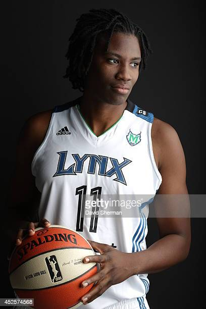 Amber Harris of the Minnesota Lynx poses for a portrait during 2013 Media Day on May 16 2013 at the Minnesota Timberwolves and Lynx LifeTime Fitness...