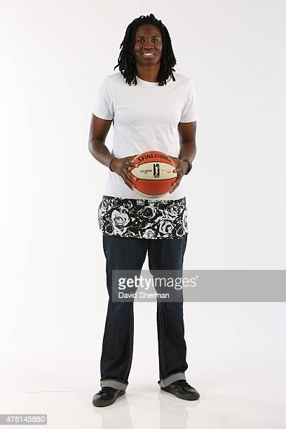 Amber Harris of the Minnesota Lynx poses for a portrait during 2015 Media Day on May 28 2015 at the Minnesota Timberwolves and Lynx Courts at Mayo...