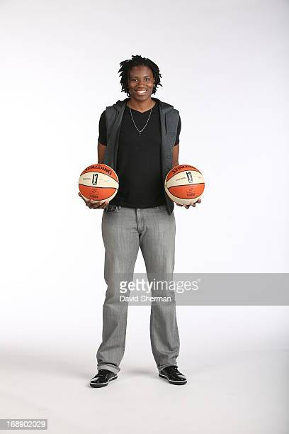 Amber Harris of the Minnesota Lynx poses for portraits during 2013 Media Day on May 16 2013 at the Minnesota Timberwolves and Lynx LifeTime Fitness...