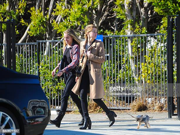 Amber Heard and her sister Whitney Heard are seen on January 26 2017 in Los Angeles California