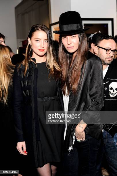 Amber Heard and Tasya Van Ree attend Stephen Webster Hosts Tasya Van Ree Replica Exhibition on November 8 2012 in Los Angeles California