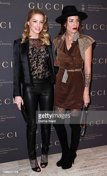 Amber Heard and Tasya Van Ree attend the Society of Sloane-Kettering Cancer Center's 2010 fall party at Four Seasons Restaurant on November 16, 2010...