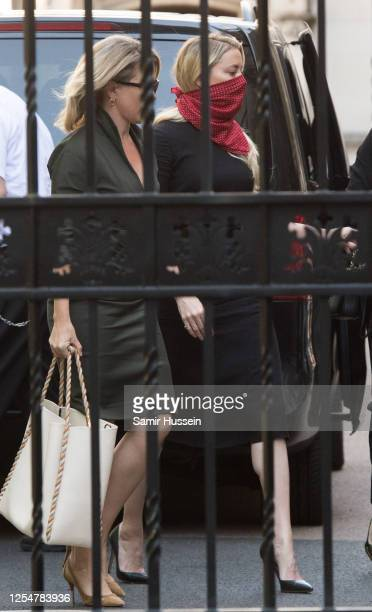 Amber Heard arrives at Royal Courts of Justice Strand on July 07 2020 in London England Johnny Depp is taking News Group Newspapers publishers of The...