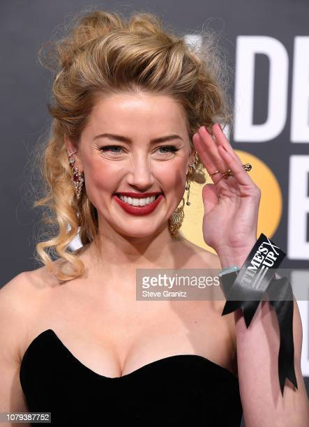 Amber Heard arrives at the 76th Annual Golden Globe Awardsat The Beverly Hilton Hotel on January 6 2019 in Beverly Hills California