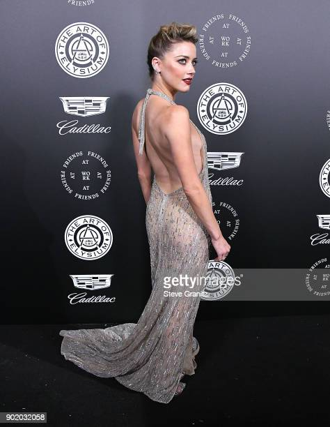 Amber Heard arrives at the The Art Of Elysium's 11th Annual Celebration Heaven on January 6 2018 in Santa Monica California