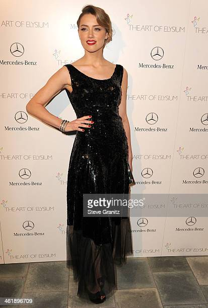 Amber Heard arrives at the The Art of Elysium's 7th Annual HEAVEN Gala Presented By MercedesBenz on January 11 2014 in Los Angeles California