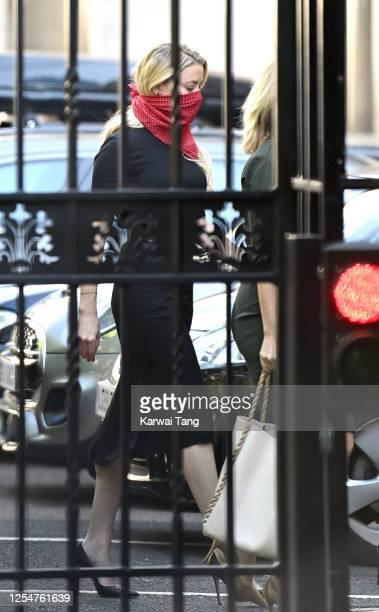 Amber Heard arrives for Johnny Depp's libel case against the Sun Newspaper at the Royal Courts of Justice Strand on July 07 2020 in London England...