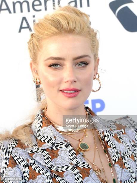 Amber Heard arrives for the 2020 Film Independent Spirit Awards held on February 8 2020 in Santa Monica California