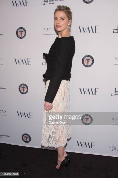 Amber Heard arrives for The Syrian American Medical Society hosts the Voices in Displacement Gala at Riviera 31 at Sofitel on May 4 2018 in Los...