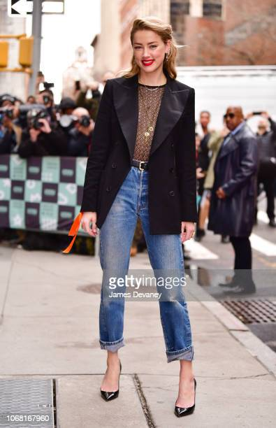 Amber Heard arrives to 'Build' at Build Studios on December 3 2018 in New York City