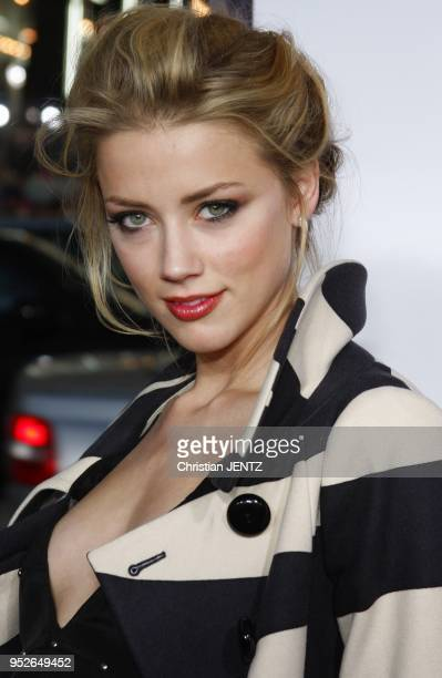 "Amber Heard arrives to the World Premiere of ""Forgetting Sarah Marshall"" held at the Grauman's Chinese Theater in Hollywood, California, United..."