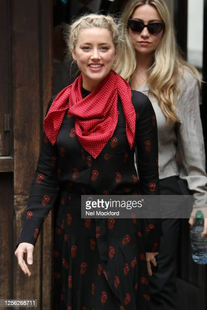 Amber Heard arrivesat Royal Courts of Justice Strand on July 15 2020 in London England American actor Johnny Depp is taking News Group Newspapers...
