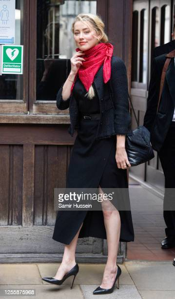 Amber Heard at Royal Courts of Justice Strand on July 13 2020 in London EnglandHollywood actor is taking News Group Newspapers publishers of The Sun...