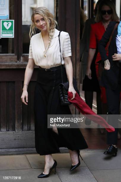 Amber Heard at Royal Courts of Justice Strand on July 20 2020 in London England American actor Johnny Depp is taking News Group Newspapers publishers...