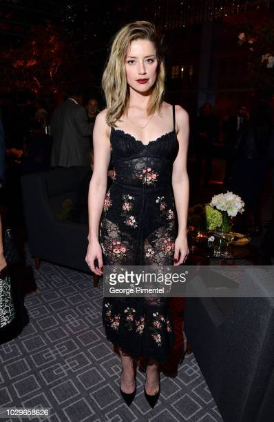 Amber Heard attends 2018 HFPA and InStyle's TIFF Celebration at the Four Seasons Hotel on September 8 2018 in Toronto Canada