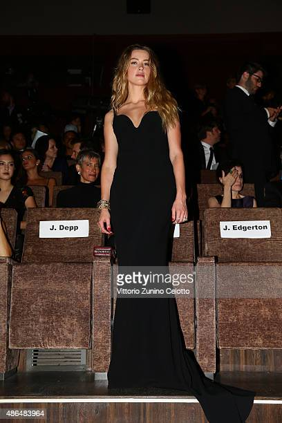 Amber Heard attends a premiere for 'Black Mass' during the 72nd Venice Film Festival at on September 4 2015 in Venice Italy