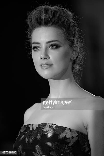 Amber Heard attends a premiere for 'The Danish Girl' during the 72nd Venice Film Festival on September 5 2015 in Venice Italy