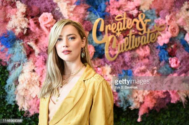 Amber Heard attends Create & Cultivate New York presented by Mastercard at Industry City on May 04, 2019 in Brooklyn, New York.