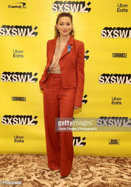 Amber Heard attends Featured Session Making Change On and Off the Screen during the 2019 SXSW Conference and Festivals at Hilton Austin on March 9...