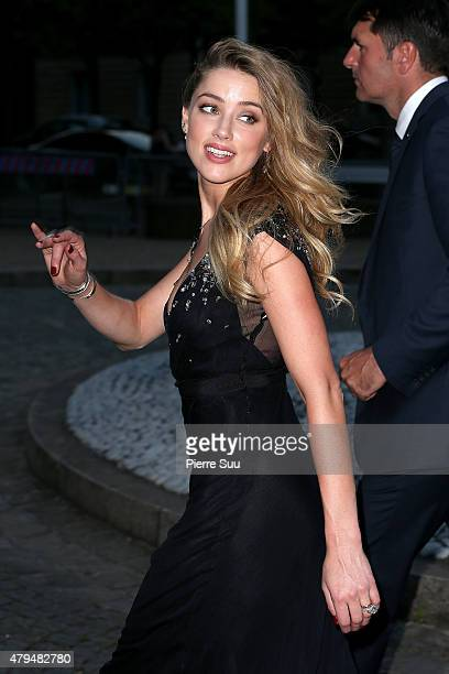 Amber Heard attends Miu Miu Club Launch of the First Miu Miu Fragrance and Croisiere 2016 Collection at Palais d'Iena on July 4 2015 in Paris France