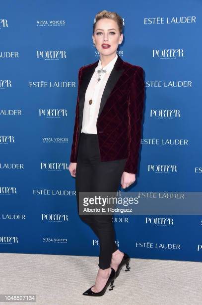 Amber Heard attends PORTER's Third Annual Incredible Women Gala at The Ebell of Los Angeles on October 9 2018 in Los Angeles California