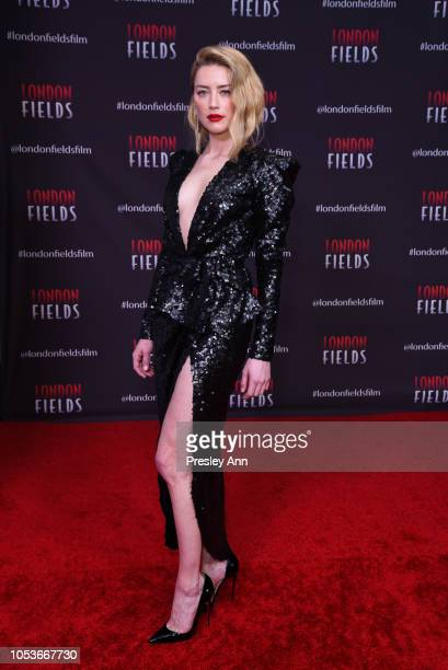 Amber Heard attends Premiere Of London Fields at The London West Hollywood on October 25 2018 in West Hollywood California